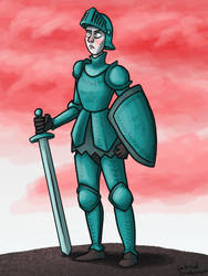 Armored Warrior by Blondbraid