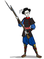 Onna Bugeisha With Musket by Blondbraid