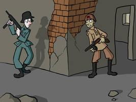Wartime encounter by Blondbraid