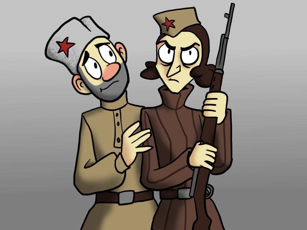 Olga and Ivan by Blondbraid