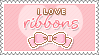 Ribbons Stamp by milkyribbon