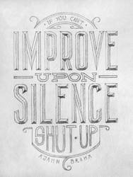 Handlettering: Silence by Play4ce