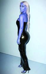 kim kardashian blueberry inflation  by blueberryfanworld