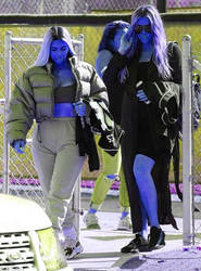 kim  khloe kardashian blueberry inflation by blueberryfanworld