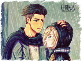 Otabek and Yurio by AjebFLY