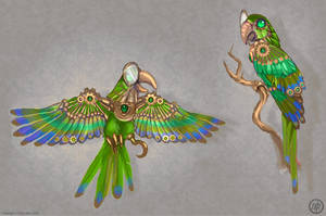 Clockwork Parrot by Vermin-Star