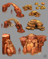 Dry Plains- rock formations by Vermin-Star