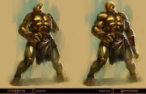 god of war - automaton by tobiee