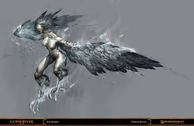 god of war - ice harpy by tobiee