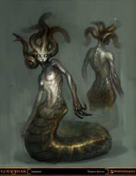 god of war - gorgon by tobiee
