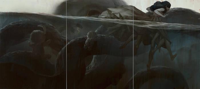 Motherland Chronicles #39 - waterwalker by tobiee