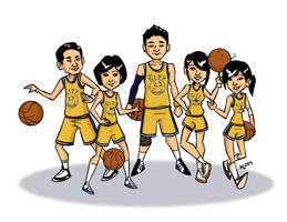 Golden State Wongiors - color by taneel