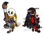 Undertale - Backpack chibis by lyoth737