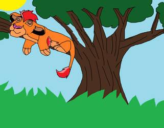 Kion In A Tree Relaxing by 99balto12