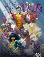 COLOSSUS N KITTY COLORS by CaziTena