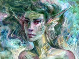 Mermaid portrait by solar-sea
