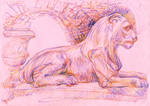 Magical pink lion by solar-sea