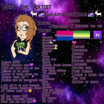 ~Meet the Artist~(REDO) by GalaticKaiju