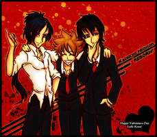 SS:  Tsuna, Mukuro and Hibari by kingv