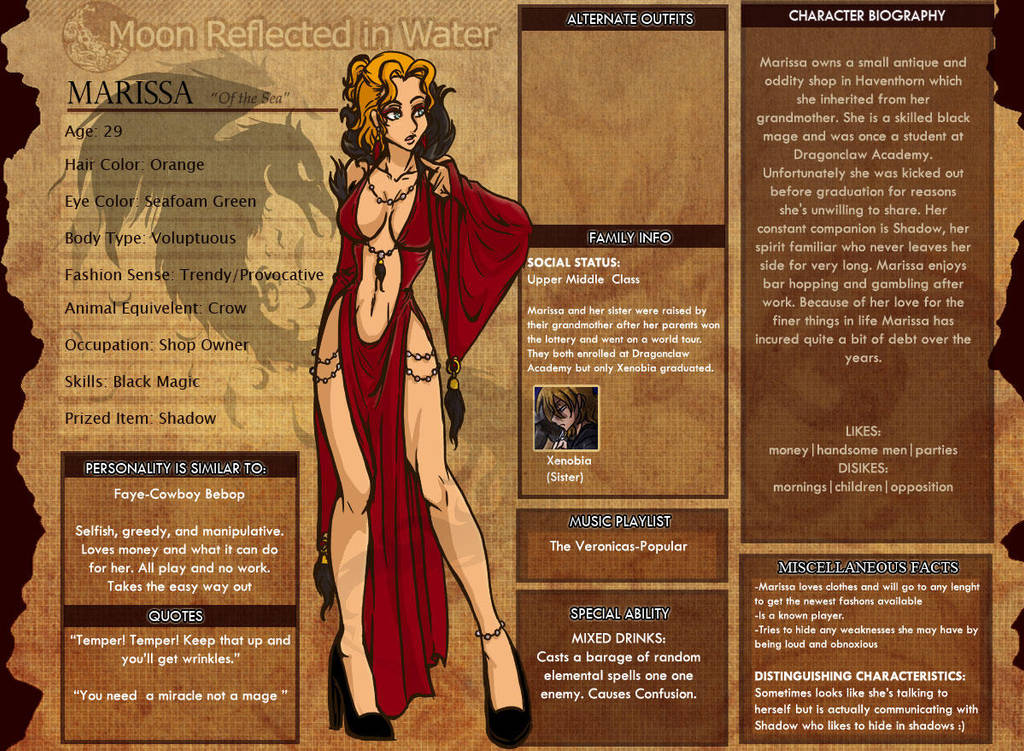 MRIW Marissa Profile by kingv