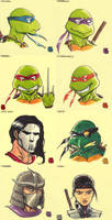 Sticky Note Sketches - TMNT by WillRipamonti