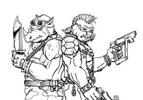 Bebop and Rocksteady by WillRipamonti