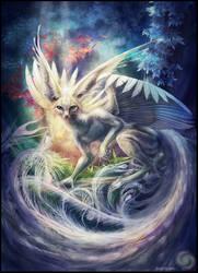 White peafox. by Kayas-Kosmos
