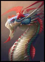 Regal Blue Jungle Dragon. by Kayas-Kosmos