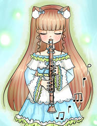 Charlotte Playing Clarinet by TaitRochelle