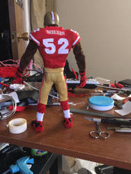 Pipe cleaner football player Patrick Willis by Hakeem2lari