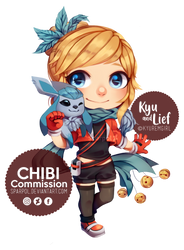 Chibi Kyu and Lief by Sparpol