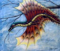 Gliding dragon by Spyrre