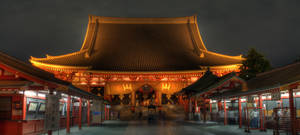 Senso-Ji at night II by frenchbear