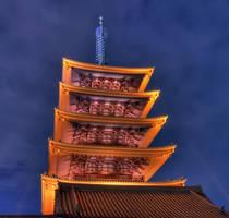 Senso-Ji Pagoda by frenchbear
