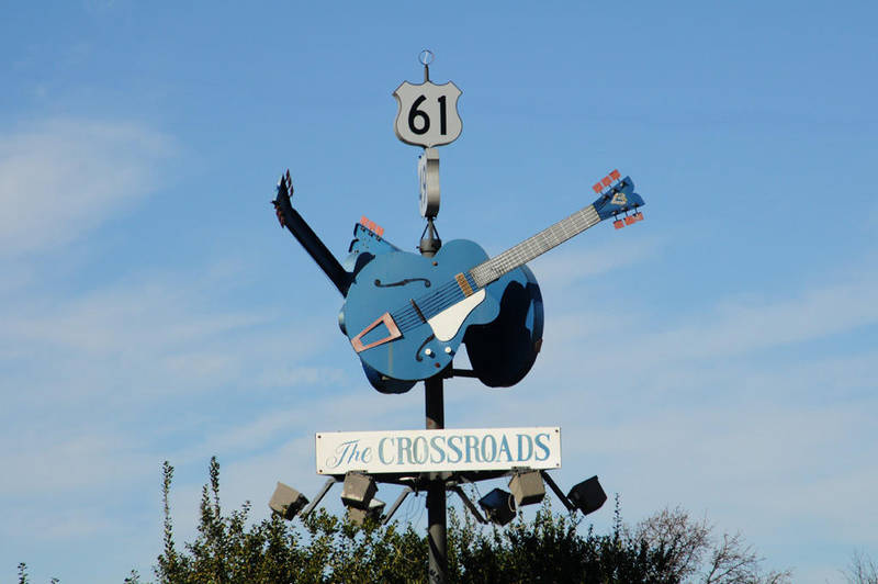 Clarksdale, MS Crossroads Sign by isaacsingleton