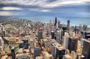 Chicago Skyline by isaacsingleton