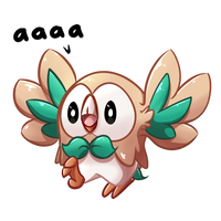 Rowlet Birb by WitchTaunter