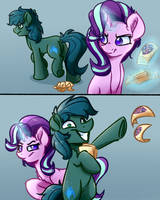 Glimmer and Poison Horse Comic Commission by WitchTaunter