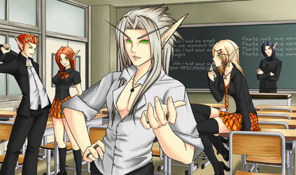 World of Warcraft High School by bourgogne