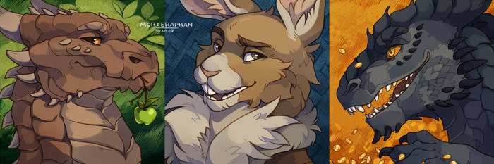 [Icon-commission #13-14-15] by morteraphan