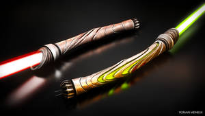 Duo Lightsabers by Pallacium