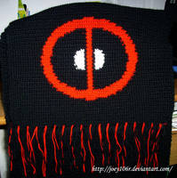Deadpool Scarf - Close up by Joey106r