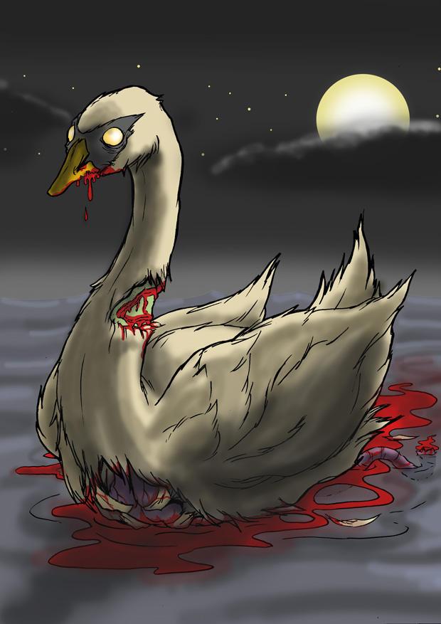 Undead Swan by mjwills