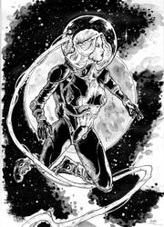 Space girl commission by abc142