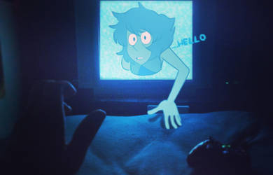 Lapis crawling out of my TV by alatrylinus