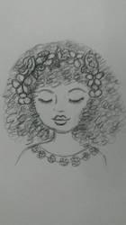 Flowerchild doodle by serekan