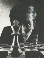 Bobby Fischer Painting by MelodicChronic