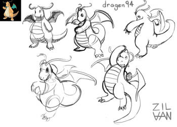 dragen94 Dragonite request by Zilvan