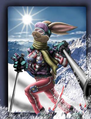 Snow Bunny by IndigoAngelCat