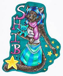 Shiba Badge by IndigoAngelCat